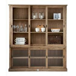 Blue Hills Glass Cabinet 3 Türen / Rivièra Maison