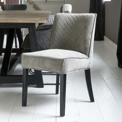 Bridge Lane Dining Chair Diamond Stitch italian rib mouse / Rivièra Maison