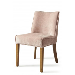 Bridge Lane Dining Chair, velvet, pink / Rivièra Maison