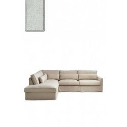 Brompton Cross Corner Sofa Chaise Longue Left, polyester-polyacryl, mint / Rivièra Maison