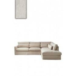 Brompton Cross Corner Sofa Chaise Longue Right, polyester-polyacryl, pearl / Rivièra Maison