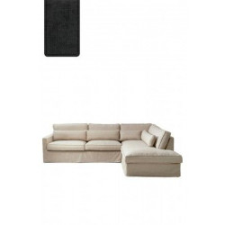 Brompton Cross Corner Sofa Chaise Longue Right, polyester-polyacryl, shadow / Rivièra Maison