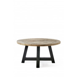 Canyamel Coffee Table Black Base 90 cm diameter / Rivièra Maison