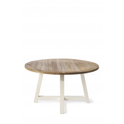 Canyamel Dining Table 140 cm diameter, white legs / Rivièra Maison