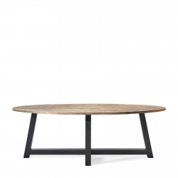 Canyamel Dining Table Oval Black base 230 cm / Rivièra Maison