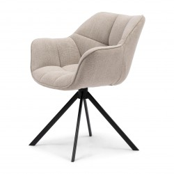 Carnaby Dining Armchair mouline linen fabulous flax / Rivièra Maison