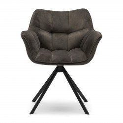 Carnaby Dining Armchair velvet III anthracite / Rivièra Maison