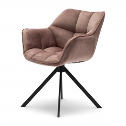 Carnaby Dining Armchair velvet III rose stain / Rivièra Maison