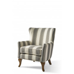 Cavendish Armchair grey stripe / Rivièra Maison