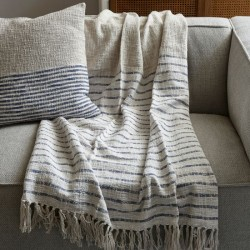 Club Stripe Throw 170x130 sand / Rivièra Maison
