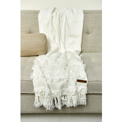 Coachella Throw white 170x130 / Rivièra Maison