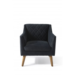 Contessa Armchair velvet midnight grey / Rivièra Maison