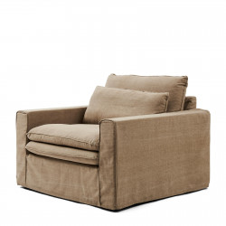 Continental Love Seat washed cotton natural / Rivièra Maison