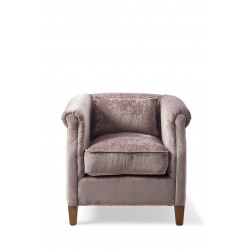 Cutler Park Club Chair, velvet, plum / Rivièra Maison