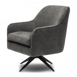 Fawcett Swivel Chair Black Leg berkshire elephant / Rivièra Maison