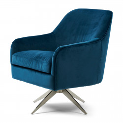 Fawcett Swivel Chair velvet ocean blue / Rivièra Maison