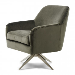 Fawcett Swivel Chair velvet slate grey / Rivièra Maison