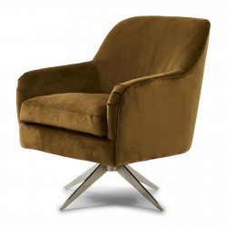 Fawcett Swivel Chair velvet windsor green / Rivièra Maison
