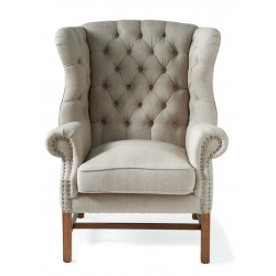 Franklin Park Wingchair Linen Flax / Rivièra Maison