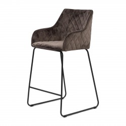 Frisco Drive Counter Stool velvet III anthracite / Rivièra Maison