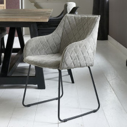 Frisco Drive Dining Armchair italian rib mouse / Rivièra Maison
