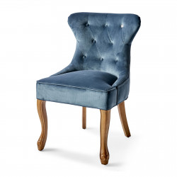 George Dining Chair velvet ocean blue / Rivièra Maison