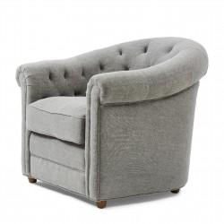 Grantham Armchair mouline linnen elephant grey / Rivièra Maison