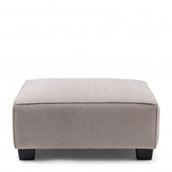 Hampton Heights Footstool washed cotton ash grey / Rivièra Maison