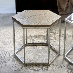 Hexagon Parc End Table Wood / Rivièra Maison