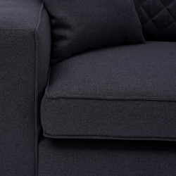 Kendall Sofa 3,5 Seater oxford weave classic charcoal / Rivièra Maison