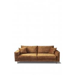 Kendall Sofa 3,5 Seater velvet cognac / Rivièra Maison