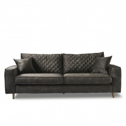 Kendall Sofa 3,5 Seater velvet grimaldi grey / Rivièra Maison