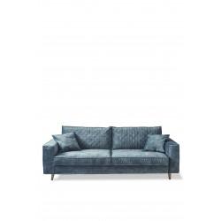Kendall Sofa 3,5 Seater velvet petrol / Rivièra Maison