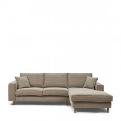 Kendall Sofa with Chaise Longue Right washed cotton stone / Rivièra Maison