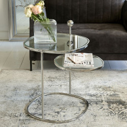 Liberty Hexagon Side Table Silver / Rivièra Maison