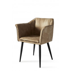 Megan Dining Arm Chair Black Leg pellini camel / Rivièra Maison