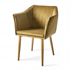 Megan Dining Armchair velvet windsor green / Rivièra Maison