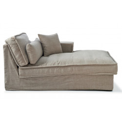 Metropolis Chaise Longue Right washed cotton / Rivièra Maison