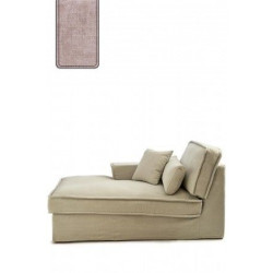 Metropolis Chaise Longue Right, polyester-polyacryl, blossom / Rivièra Maison