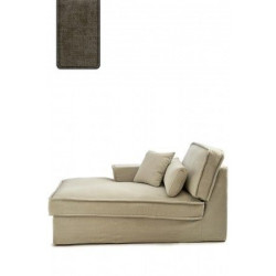 Metropolis Chaise Longue Right, polyester-polyacryl, clay / Rivièra Maison
