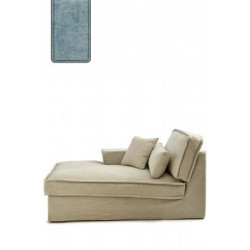 Metropolis Chaise Longue Right, polyester-polyacryl, light blue / Rivièra Maison