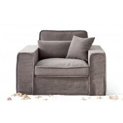 Metropolis Love Seat Washed Cotton Ash Grey / Rivièra Maison