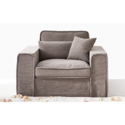 Metropolis Love Seat Washed Cotton Grey / Rivièra Maison