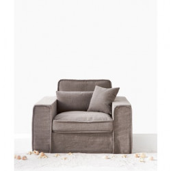 Metropolis Love Seat Washed Cotton Stone / Rivièra Maison