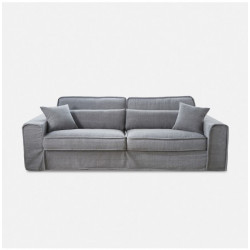 Metropolis Sofa 3,5 Seater Washed Cotton Grey / Rivièra Maison