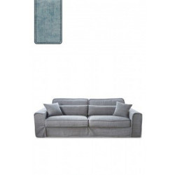 Metropolis Sofa 3,5 seater, velvet, light blue / Rivièra Maison