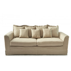 Montauk Point 3,5 seater Sofa Bed linen flax ivory / Rivièra Maison