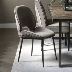 Mr. Beekman Dining Chair velvet III anthracite / Rivièra Maison