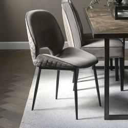 Mr. Beekman Dining Chair velvet III anthracite / Rivièra Maison