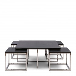 Nomad Cofee Table Set 5 Black / Rivièra Maison